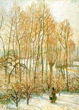 Camille Pissarro - Morning Sunlight on the Snow, Eragny-Sur-Epte 1895