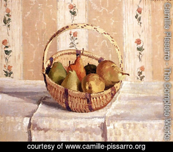 Camille Pissarro - Still Life  Apples And Pears In A Round Basket