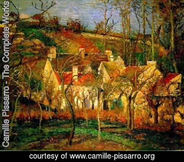 Camille Pissarro - Red Roofs, a Corner of the Village in Winter